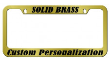 Solid Brass Engraved Metal License Plate Frame