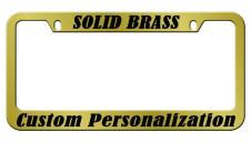 solid brass engraved metal license plate frame