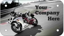 Full Color Motorcycle Poly-Ad Plate