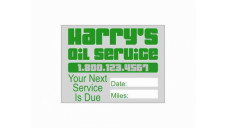Static Stick Service Decal