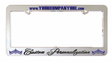 Chrome Plated License Plate Frame