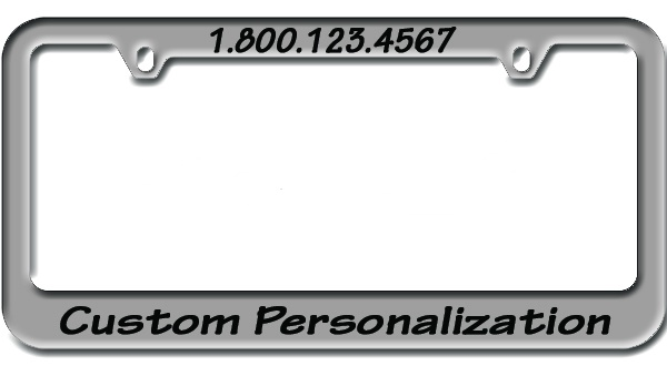 zinc engraved metal license plate frame
