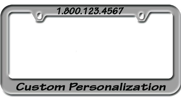zinc engraved metal license plate frame