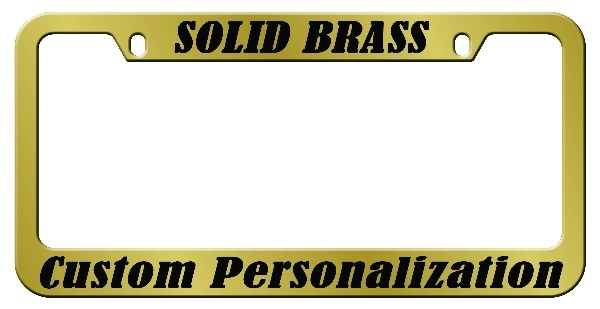 sc 1 st  License Plates and Frames & Solid Brass Engraved Metal License Plate Frame