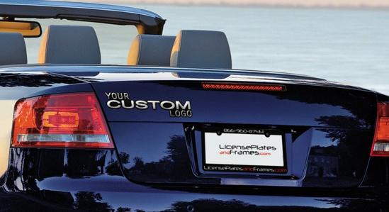 Plastic Car Trunk Emblem