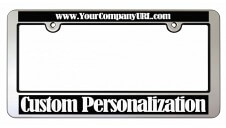 Heightened Chrome Faced License Frame