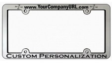 Heightened Chrome Faced Engraved License Frame