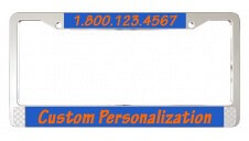 Zinc Die Cast License Plate Frame