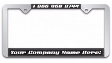 Chrome License Plate Frame with Full Color Insert